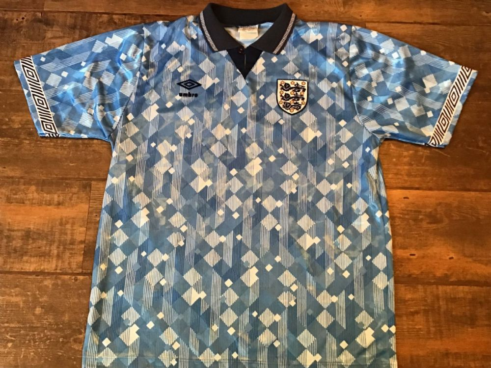 Classic Global Football Shirts England 1990  | Old Vintage Soccer Jerseys